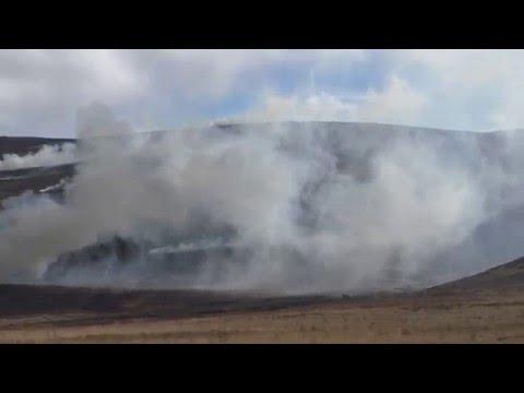 HEATHER BURNING ON FOREST OF BOWLAND MOORS