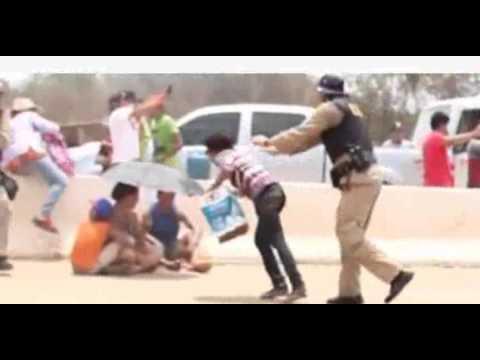 Resultado de imagem para VÍDEO - Manifestantes são retirados a força da BR-364