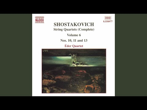 String Quartet No 11 in F Minor, Op 122: I Introduction: Andantino