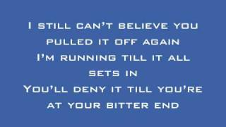 New Found Glory - All Downhill From Here Lyrics