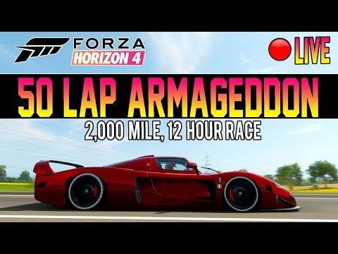 Forza Horizon 4 - 50 LAPS OF ARMAGEDDON! 2,000 MILE RACE LIVE thumbnail
