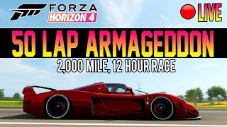 Forza Horizon 4 - 50 LAPS OF ARMAGEDDON! 2,000 MILE RACE LIVE thumbnail