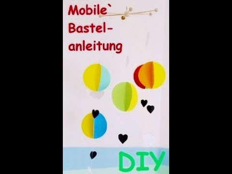 mobile ballon bastelanleitung kinderzimmer deko youtube. Black Bedroom Furniture Sets. Home Design Ideas