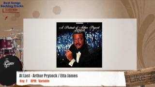 At Last - Arthur Prysock / Etta James Instrumental Drums Backing Track with chords and lyrics