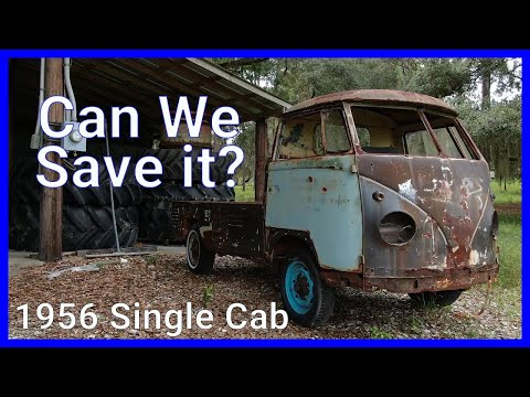 1956 VW Single Cab Barn Find.. With a Drone!