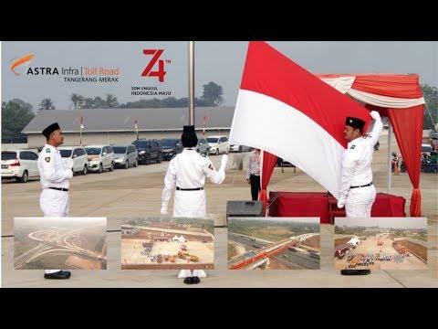 Upacara HUT Ke 74 RI - ASTRA Tol Tangerang-Merak Di Proyek Interchange Balaraja Timur
