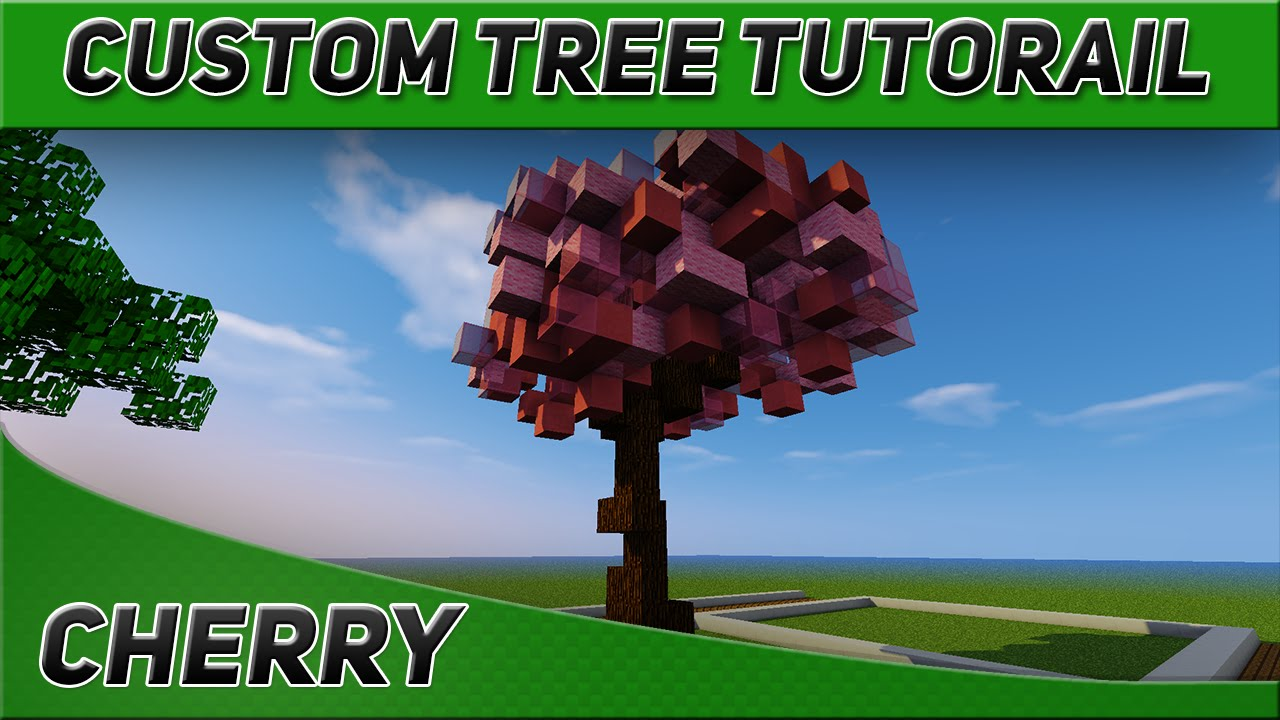 minecraft tree tutorial cherry blossom youtube
