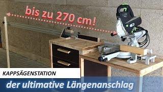 verstellbarer Längenanschlag // erweiterbar // ideal für kleine Werkstätten mit wenig Platz