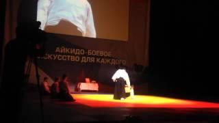 Выступление Стивена Сигала на Всеросийском фестивале айкидо Торнадо 4 декабря 2015г
