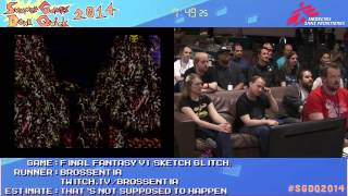 Summer Games Done Quick 2014 - Part 167 - Final Fantasy VI Sketch Glitch