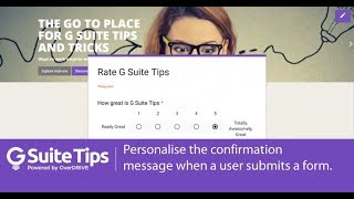 Personalise The Confirmation Message In Forms G Suite Tips