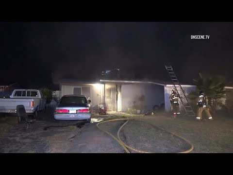 Garden Grove Elderly Man Rescued From Burning Home