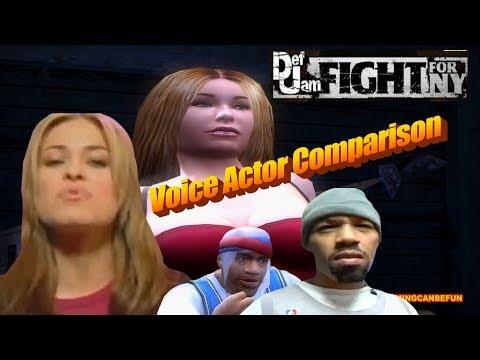 DEF JAM | GAME TO VOICE ACTOR COMPARISON (PS4 PRO & PS3 4K 60FPS)