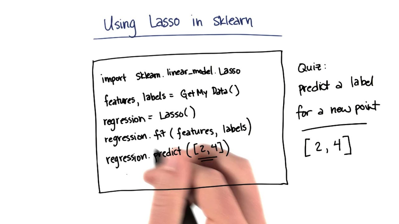 Lasso Prediction with sklearn Solution - Intro to Machine Learning
