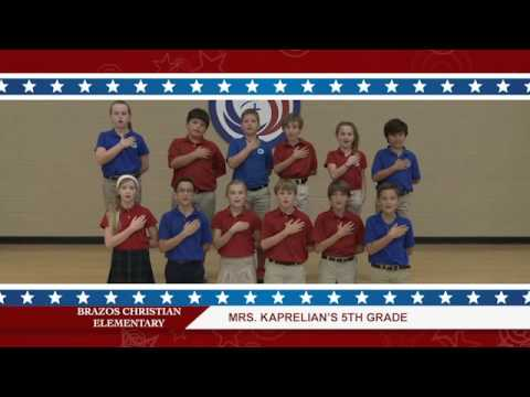 Daily Pledge Brazos Christian School-Mrs. Kaperlian