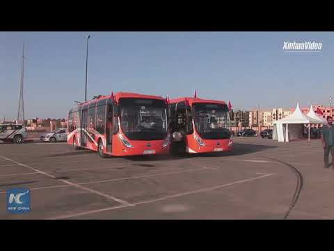 Environment-friendly! Chinese electrical buses unveiled in Moroccan city