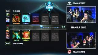 Dota 2 - Team Secret vs. Team Empire - ESL One Manila 2016 - Quarter-Final Game 3