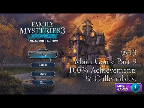 Family Mysteries 3: Criminal Mindset (9/13) Walkthrough, 100% Achievements & Collectables.  
