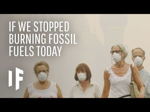 What If We Stopped Burning Fossil Fuels RIght Now?