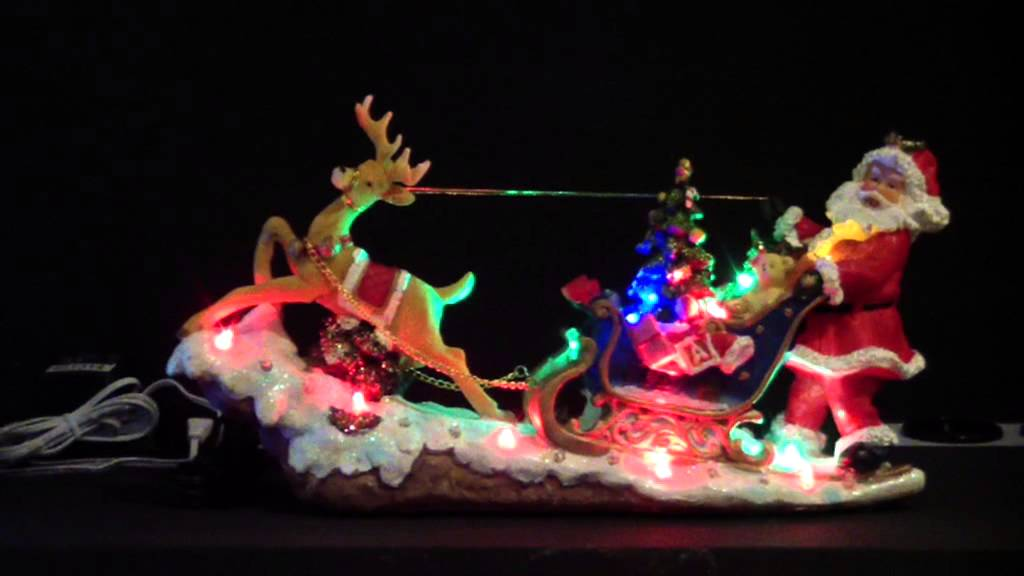 Traineau du p re noel led anim youtube - Traineau pere noel lumineux deco exterieure ...