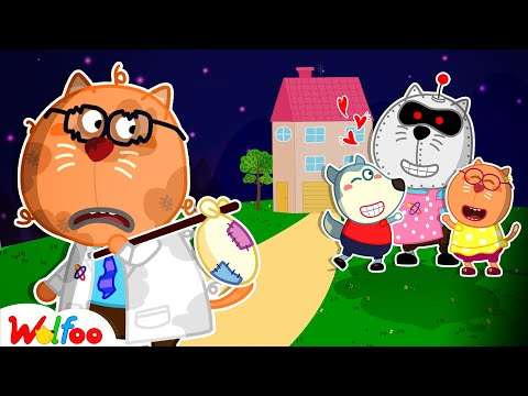 No No, Robot Is Not Your Dad! - Kids Stories About Wolfoo Family | Wolfoo Family Kids Cartoon