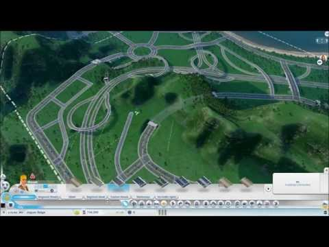 Mini In-Town Highway Speed Build (4X Speed - Sim City 2013)