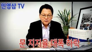 [민영삼 TV]문 지지율 대폭 하락, 최저임금 가속 페달은 굴러간다!