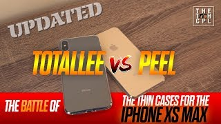We couldn't agree on our clear thin cases this year.. So we just got both. Quick review of the Totallee and Peel thin cases for the iPhone XS Max. [Updated with ...