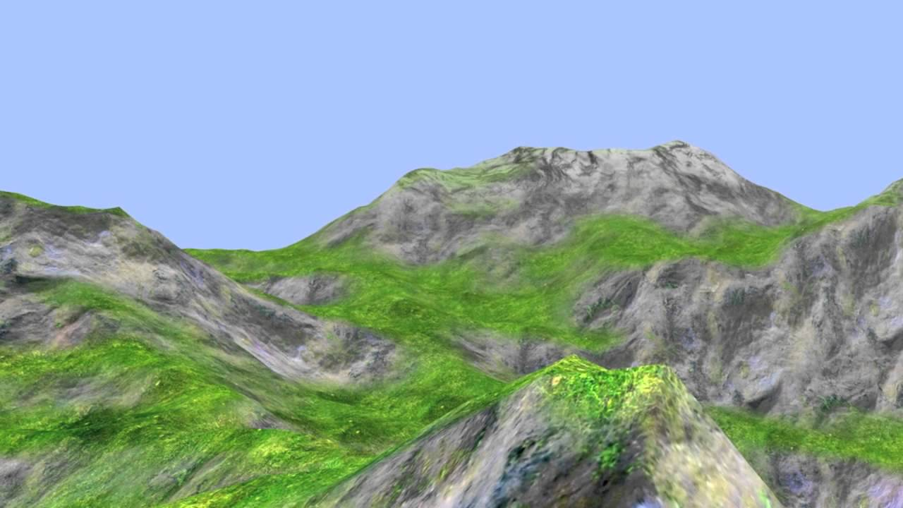 Qt 5 and OpenGL - Terrain Tessellation Example