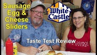 Whitecastle Sausage Egg & Cheese Breakfast Sliders Taste Test Review | JKMCraveTV