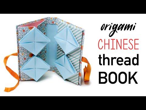 Origami Chinese Thread Book Tutorial - DIY - Paper Kawaii