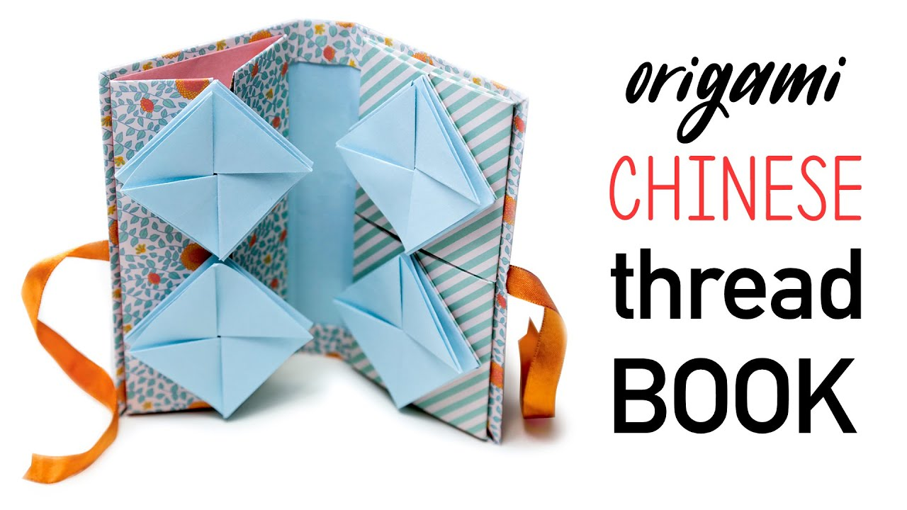 Origami chinese thread book tutorial diy youtube jeuxipadfo Image collections