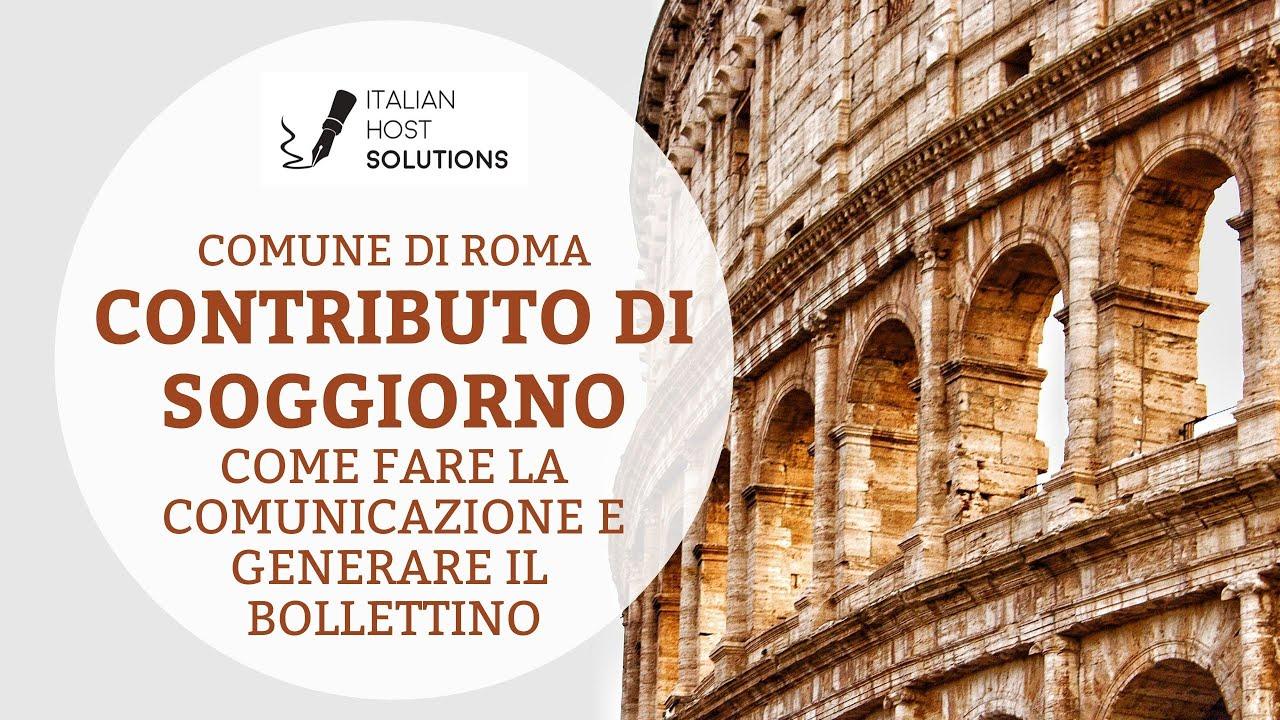 Contributo di Soggiorno _ Comune di Roma. Come effettuare ...