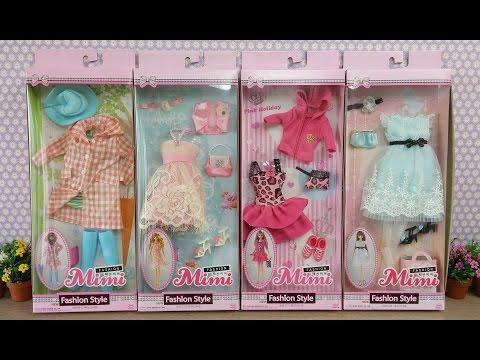 Barbie Doll Clothes unboxing 2 Dress up Roupas de boneca barbie Puppe Kleidung