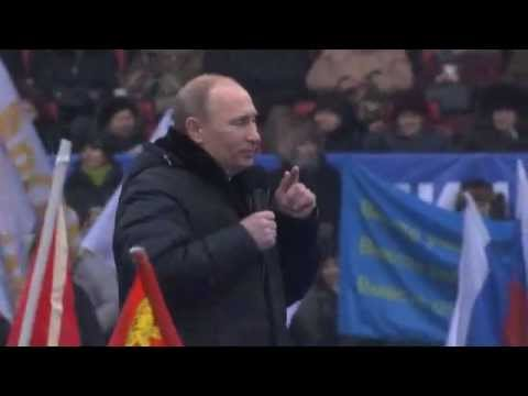 Vladimir Putin speaks at the Moscow rally (English Subtitles)
