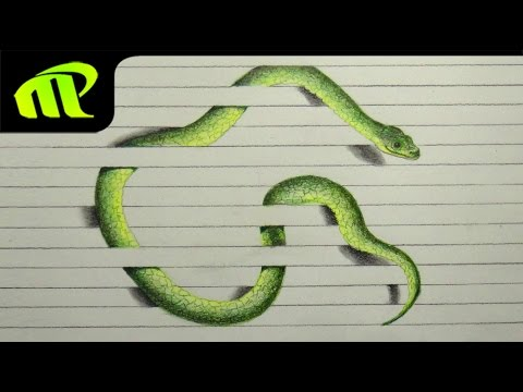 how to draw a snake vidos
