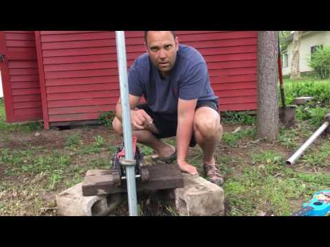 An easy way to remove metal fence posts using items you (likely) already own.