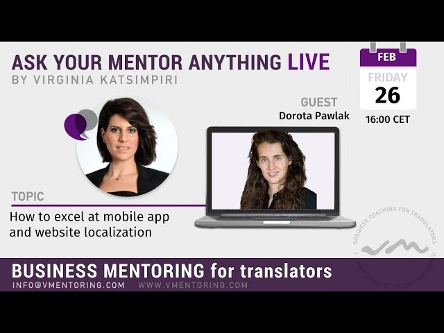 Ask Your Mentor Anything Live with Virginia Katsimpiri FT. Dorota Pawlak