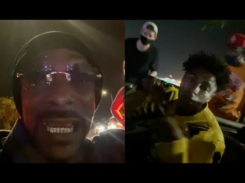 Snoop Dogg and NBA YoungBoy Get Pulled Over By Police While Riding Lowriders In LA