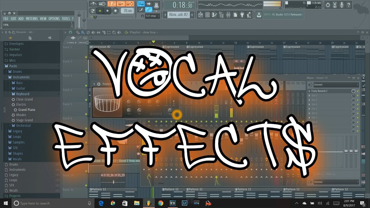 fl studio 12 tutorial how to add vocal effects youtube. Black Bedroom Furniture Sets. Home Design Ideas