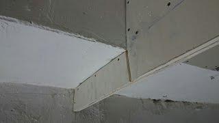 как сделать самый тонкий бортик для ниши, из двух полосок гипсокартона.(как сделать самый тонкий бортик для шторной ниши и надежно закрепить его на потолке с помощью закладной..., 2015-11-24T09:06:23.000Z)