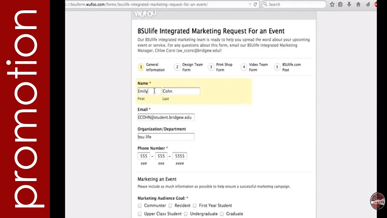 How To Fill Out A Marketing Request Form