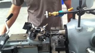 Knife pivot production on turret lathe