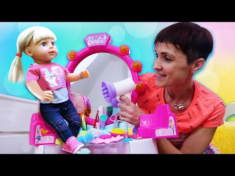 Игры для девочек - Салон красоты и Маша Капуки. Новая прическа Беби Бон и свинки Пеппы
