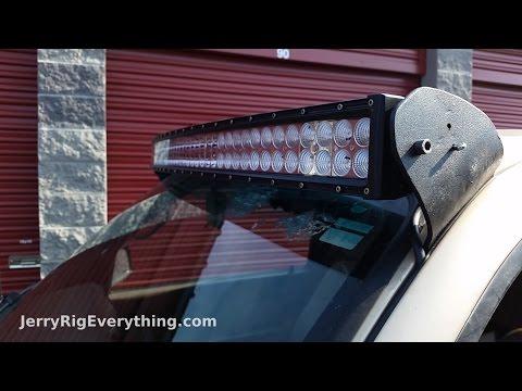 making custom brackets for a 50 inch led light bar truck mount - youtube  youtube
