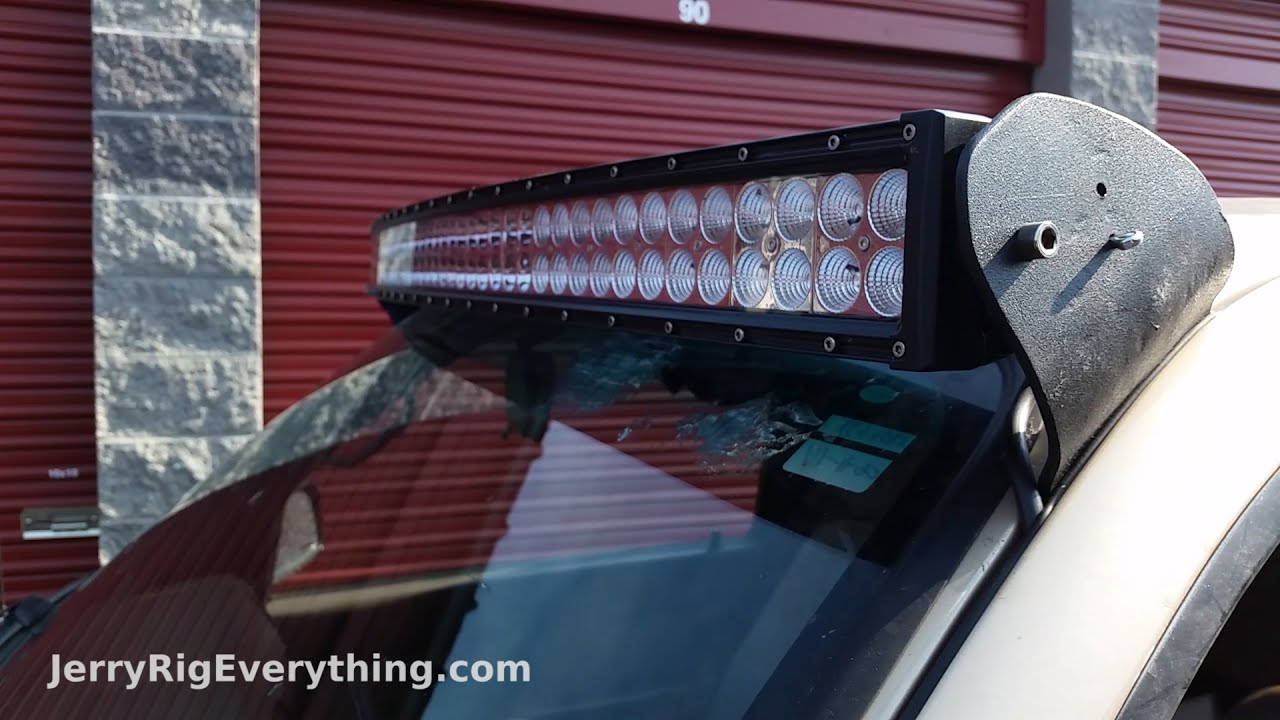 Making Custom Brackets for a 50 inch LED Light Bar Truck Mount - YouTube