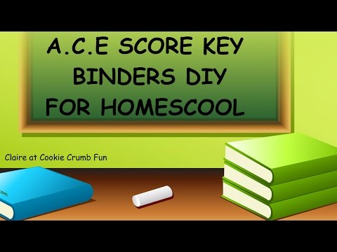 Homeschool -Score Key Binders for A.C.E!!!!!!!!!! CHECK IT OUT