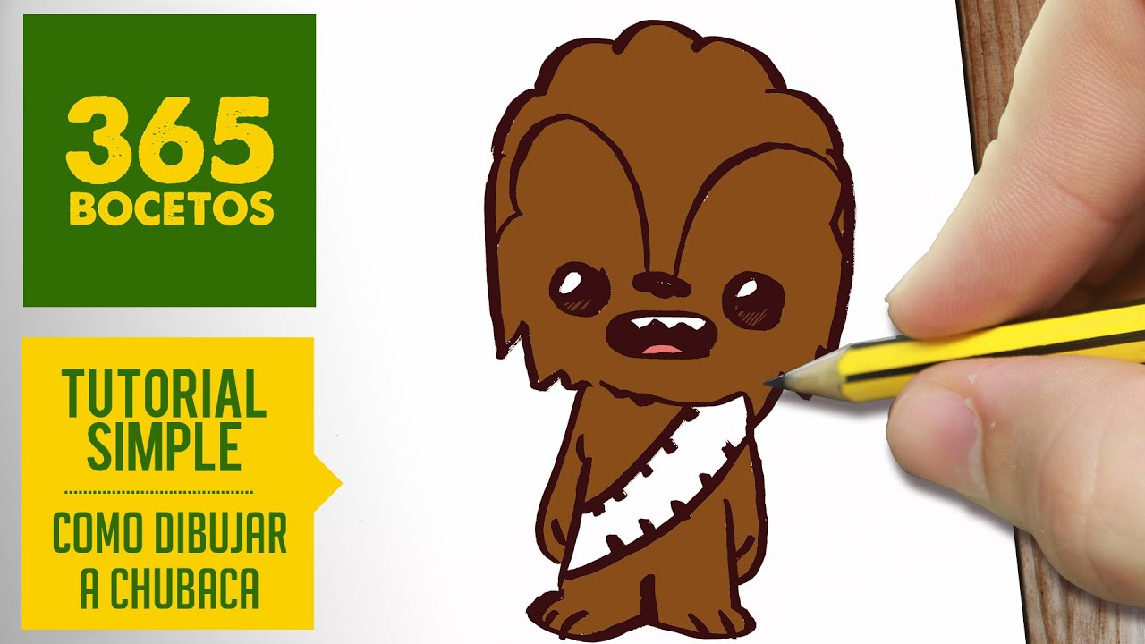 Como Dibujar A Chubaca De Star Wars Kawaii Paso A Paso Dibujos Kawaii Faciles Draw A Chubaca