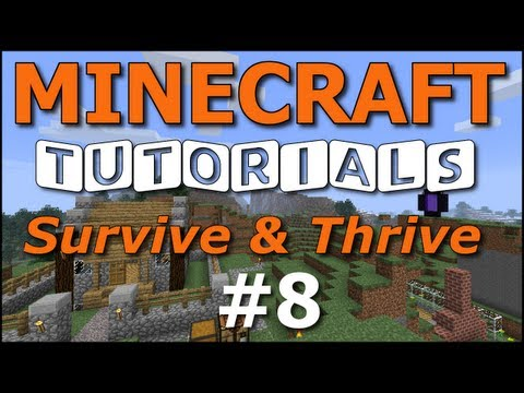 Minecraft Tutorials - E08 Wheat Farm (Survive and Thrive II)