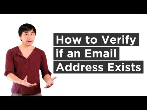 How To Verify If An Email Address Exists